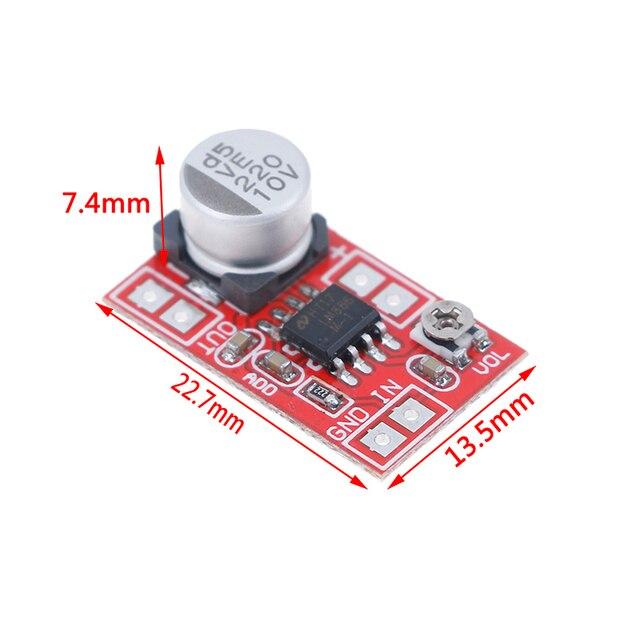 مكبر صوت ميكرو كهربائي 5 فولت-12 فولت تيار مستمر مكثف ميكروفون صغير مكبر صوت المجلس 6