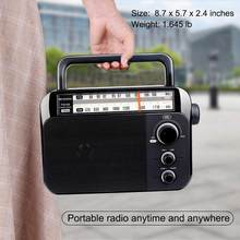 Retekess TR604 FM/AM 2 Band Portable Radio AC Powered rechargeable Receiver with 3.5mm Jack(China)