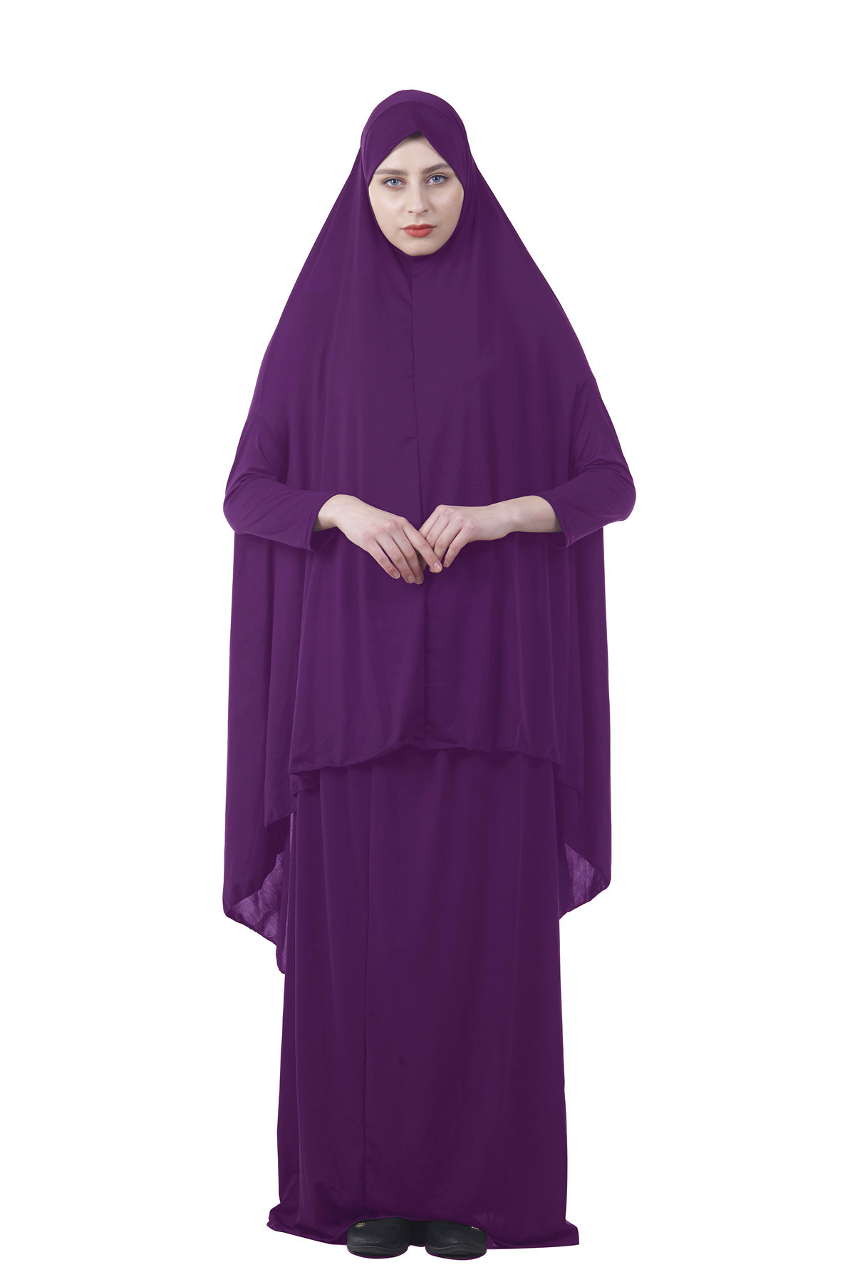 Image 5 - Formal Muslim Prayer Garment Sets Women Hijab Dress Abaya Islamic