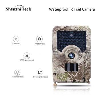 Cámara de caza impermeable HD 1080P cámara de detección de movimiento infrarroja cámara de vigilancia de Vida Silvestre foto de cámara trampas
