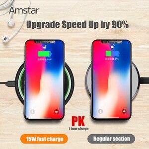 Image 3 - Amstar 15W chargeur sans fil Qi Certification rapide chargeur sans fil pour iPhone 11 Pro XS X XR Samsung S10 S9 Xiaomi 9 Huawei