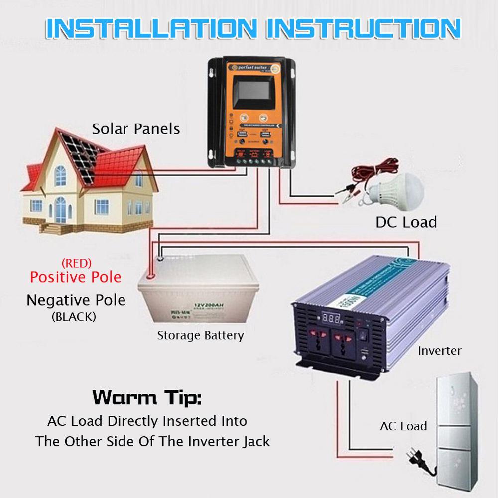 70a pwm regulador de carga solar saida 05