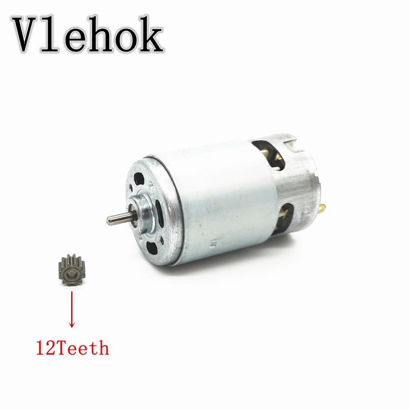 Motor RS550 12Teeth Gear 7.2V 9.6V 10.8V 12V 14V 14.4V 16.8V 18V 21V 24V 25V For BOSCH MAKITA HITACHI WORX METABO CORDLESS DRILL