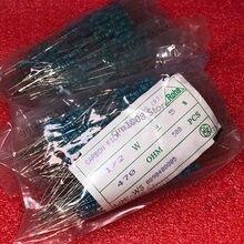 500PCS 1/2W Resistor de Filme de Carbono 5% 33R 36R 39R 43R 47R 51R 56R 62R 68R 75R 82R 91R 100R 110R 120R ohm