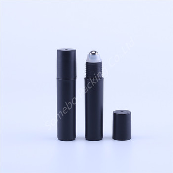 500PCS 10ml Black Plastic Essential Oil Roller Bottles with Steel  Roller Balls Aromatherapy Perfumes Lip Balms Roll On Bottles