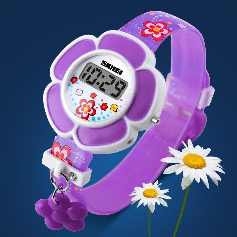 TurnFinge Горячие продажи Дети% 27 Электронные Часы Мода Досуг Высокий уровень Роскошь Качество Милый Цветок Внешний вид Праздник Подарки
