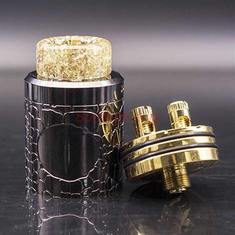 Newest VAPOR Weapon V1 RDA Rebuildable Dripping Atomizer Adjustable Airflow Wide Bore Drip Tip 24mm Diameter Fit 510 Vape Mods