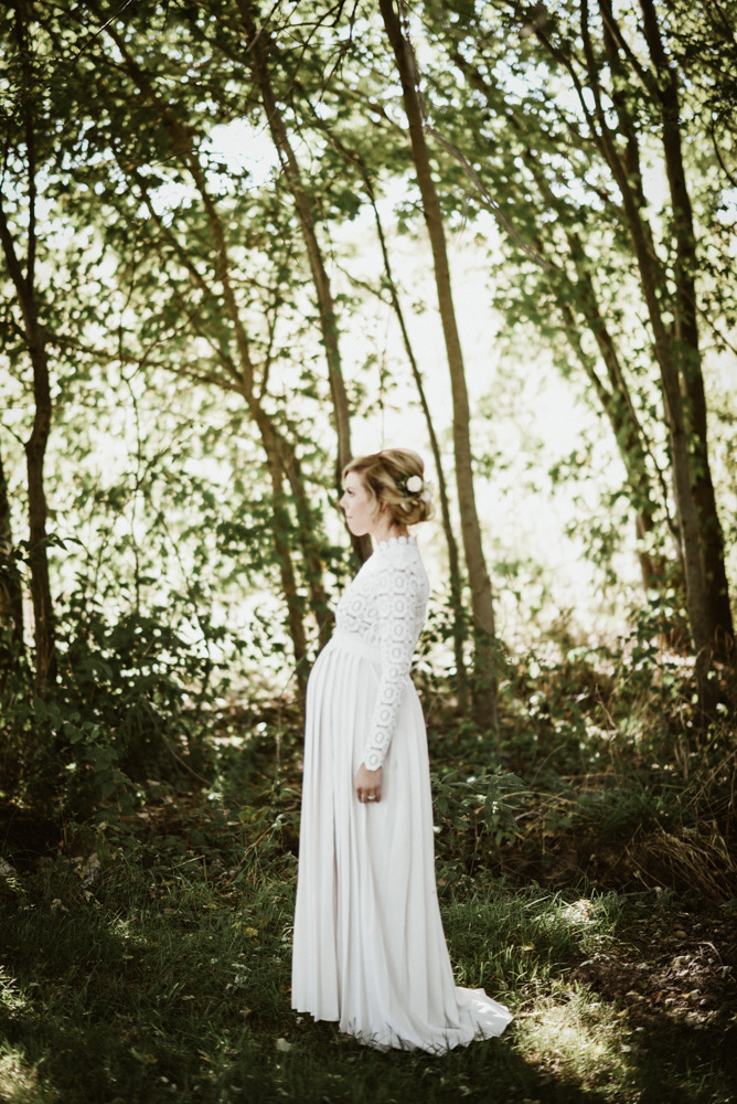 Long Maternity Shoot Dress Pleated Pregnancy Photography Dresses Split Front Maxi Maternity Gown Photo Prop For Pregnant Women (5)