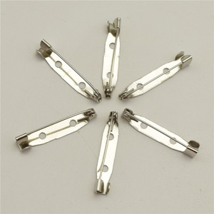 Image 1 - 1000pcs  25mm  Safety Lock Back bar Pin DIY brooch base, Dual Brooch Back Base With Safety Pin use for brooch and hair jewelry