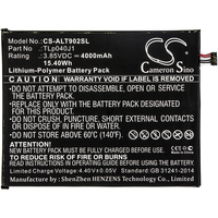 Cameron Sino 4000mAh Battery for Alcatel 9024W A30 Tablet A30 Tablet 4G LTE TLp040J1