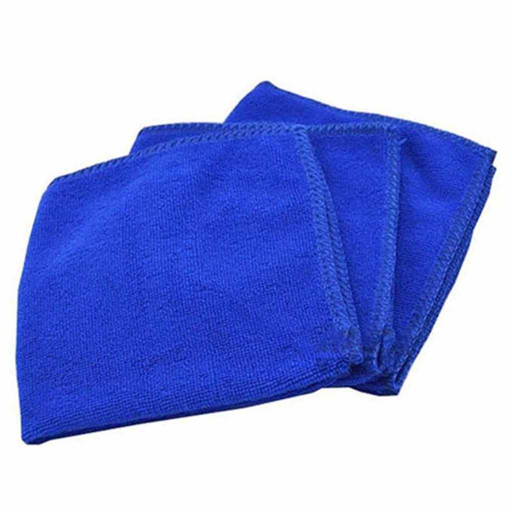 12 Buah Biru Handuk untuk Mobil Perawatan Lembut Penyerap Mencuci Kain Waxing Handuk Pembersih Microfiber Perawatan Mobil Polishing Aksesoris ##4