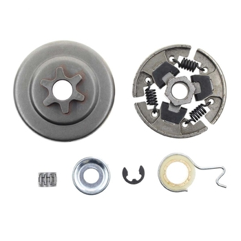 Sprocket Clutch 3/8 Inch For Stihl 017 018 021 023 025 Ms170 Ms180 Ms210 Ms230 Ms250 Chainsaw With Washer E-Clip Kit Replace 112 switch shaft choke rod kit for stihl ms250 ms230 ms210 025 023 021 ms 250 230 210 chainsaw parts
