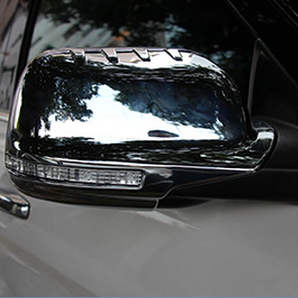 chromium variant exterior <font><b>accessories</b></font> Rear view rearview <font><b>mirror</b></font> decorative cover sticker trim <font><b>for</b></font> <font><b>ford</b></font> <font><b>explorer</b></font> image