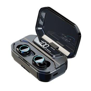 G02 TWS 9D Stereo Wireless Earphone Bluetooth 5.0+ HiFi Earphones Waterproof With LED 3300mAh Smart Power Bank Phone Holder