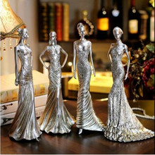 3style 40cm Women creative home furnishings resin crafts Wedding clothing store decorations ornaments Female mannequin 1pc C547