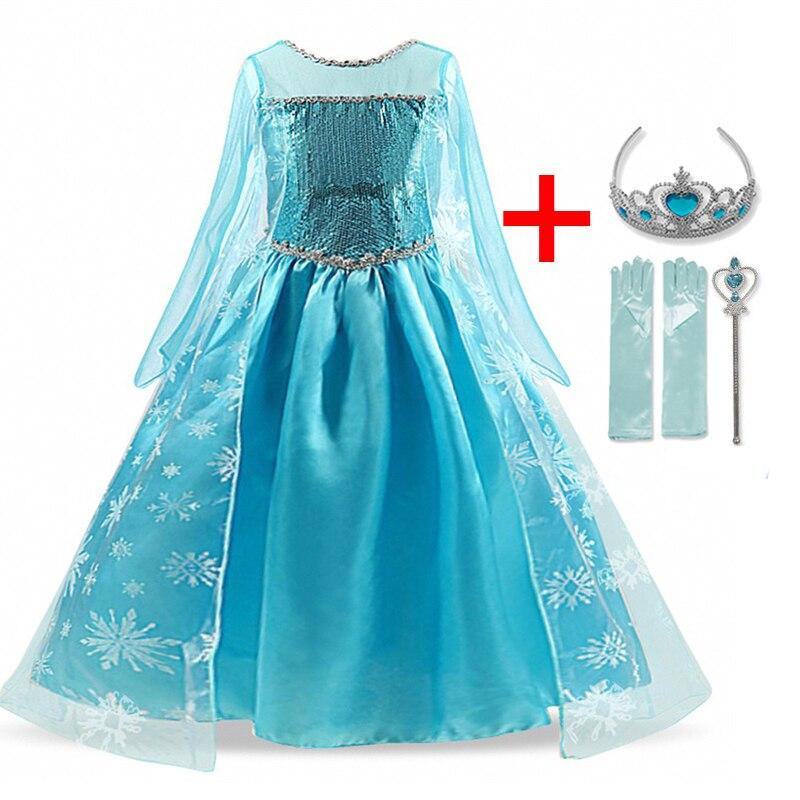 Children Girls Dress Christmas Costume Winter Clothes Kids Princess Dresses For Girl Dress Birthday Party Wear 6