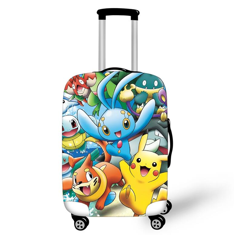 18-32 Inch Pokemon Eevee Travel Suitcase Protective Cover Luggage Case Travel Accessories Elastic Luggage Dust Cover Suitcase
