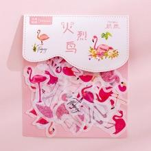 """40 шт./упак. канцелярские наклейки парным """"сделай сам"""" Фламинго липкий Бумага Kawaii вишня наклейки «цветы» для дневник в стиле Скрапбукинг"""
