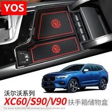 For Volvo XC40 S60 S60L V60 V90 XC60 Armrest Box Storage Refit Central ABS