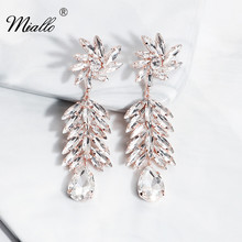Miallo 2019 Newest Korean Fashion Earring Austrian Crystal Wedding Women Bride Eardrop
