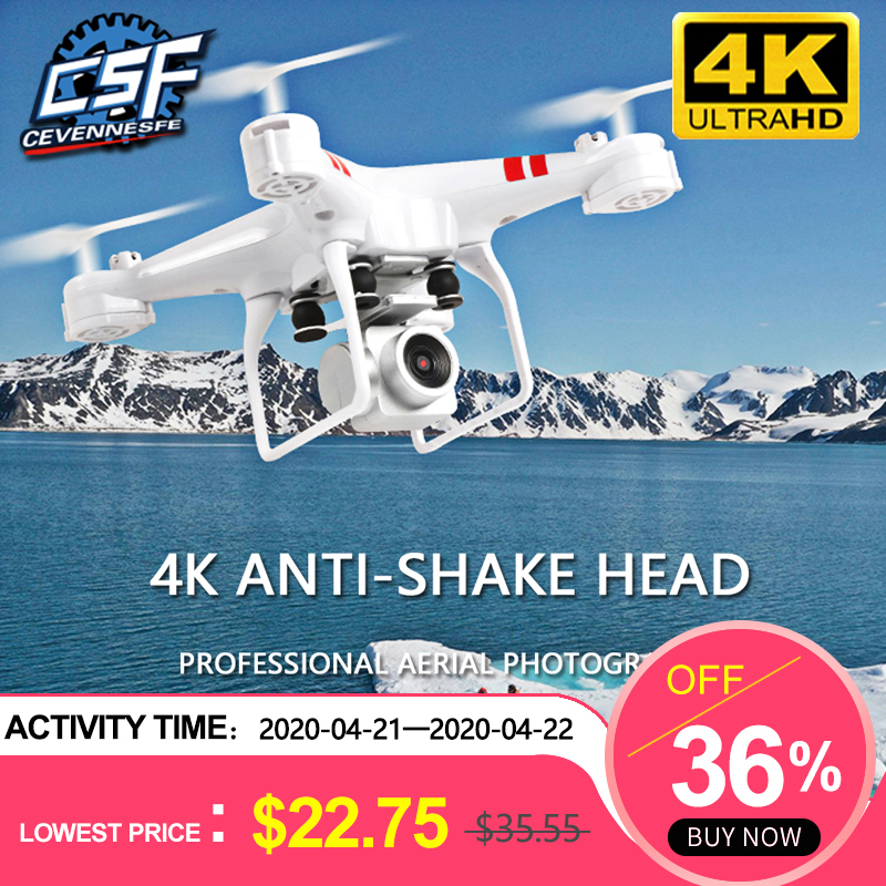 2020 New Drone 4k camera HD Wifi transmission fpv drone air pressure fixed height four-axis aircraft rc helicopter with camera 1