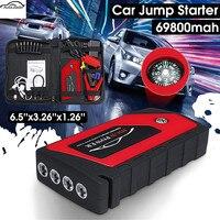 Автомобильное пусковое устройство, аварийное пусковое устройство 4USB 69800mAh 12V светодиодный светильник, Мобильный Внешний аккумулятор, автом...