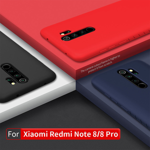 Image 1 - NILLKIN עבור xiaomi redmi note 8 פרו מקרה כיסוי סיליקון חלק מגן גב כיסוי redmi note 8 מקרה הגלובלי גרסת 6.3/6.53