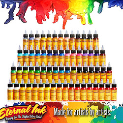 tattoo ink-50Pcs painting eternal tattoo ink set permanent tattoo paint body painting ink also