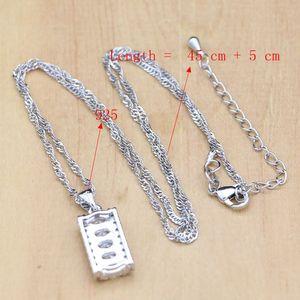 Image 5 - Женский ювелирный комплект из колье, серёг и браслета, из серебра 925 пробы