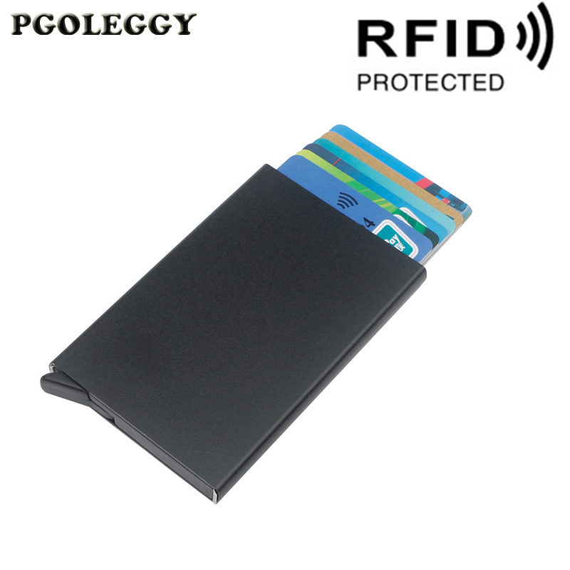 Credit Card Holder Men And Women Metal RFID Anti-theft Automatic Vintage Aluminium Box Fashion Card Wallet Business Card Holder