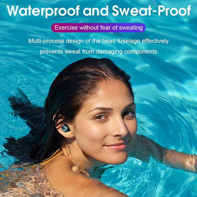 TWS Bluetooth Wireless Headphones with Microphone 3500mah Earphones HIFI Stereo Noise Cancelling Headset earbud auriculares 3
