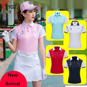 Kobiety stylowe topy odzież damska koszulka PoLo odzież sportowa Golf tenis Run suche dopasowane koszule oddychająca koszulka z krótkim rękawkiem odzież tanie i dobre opinie WOMEN COTTON Poliester Anty-pilling Oddychające Szybkie suche TT0014 Pasuje prawda na wymiar weź swój normalny rozmiar
