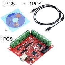 3 Stks/set 1 Pcs MACH3 Breakout Board + 1 Pcs Usb Draad + 1 Pcs Cd Cnc Usb 100Khz 4 Axis Interface Driver Motion Controller Driver Board