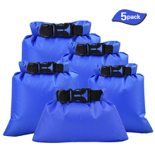 TOMSHOO 5 Pcs Swimming Waterproof Storage Bags Dry Sacks Pack Camera Boating Drifting Outdoor Water Sports