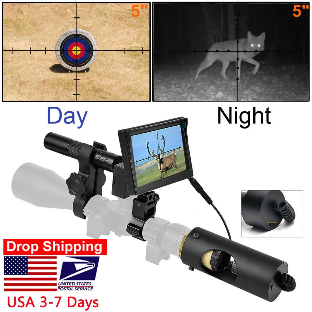 Riflescope Hunting Scopes-Optics Sight Night-Vision 850nm Infrared IR Waterproof LED title=