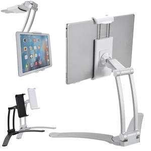 Tablets-Holder Mount-Bracket Phone-Stand Fold-Wall Kitchen Aluminum-Alloy Adjustable