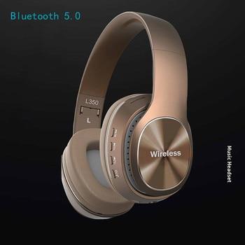 Wireless Earphones Wireless Headset Bluetooth 4.1 Stereo OverEar Foldable Headphones Built-in Mic Headphones Headset #A