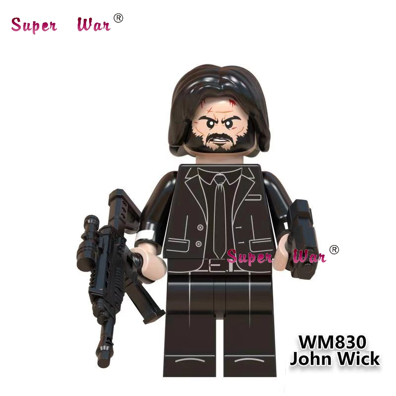 Single John Wick House Of Paper Popular DJ   Queen Leader Singer Kiss Band Building Blocks Toys For Children