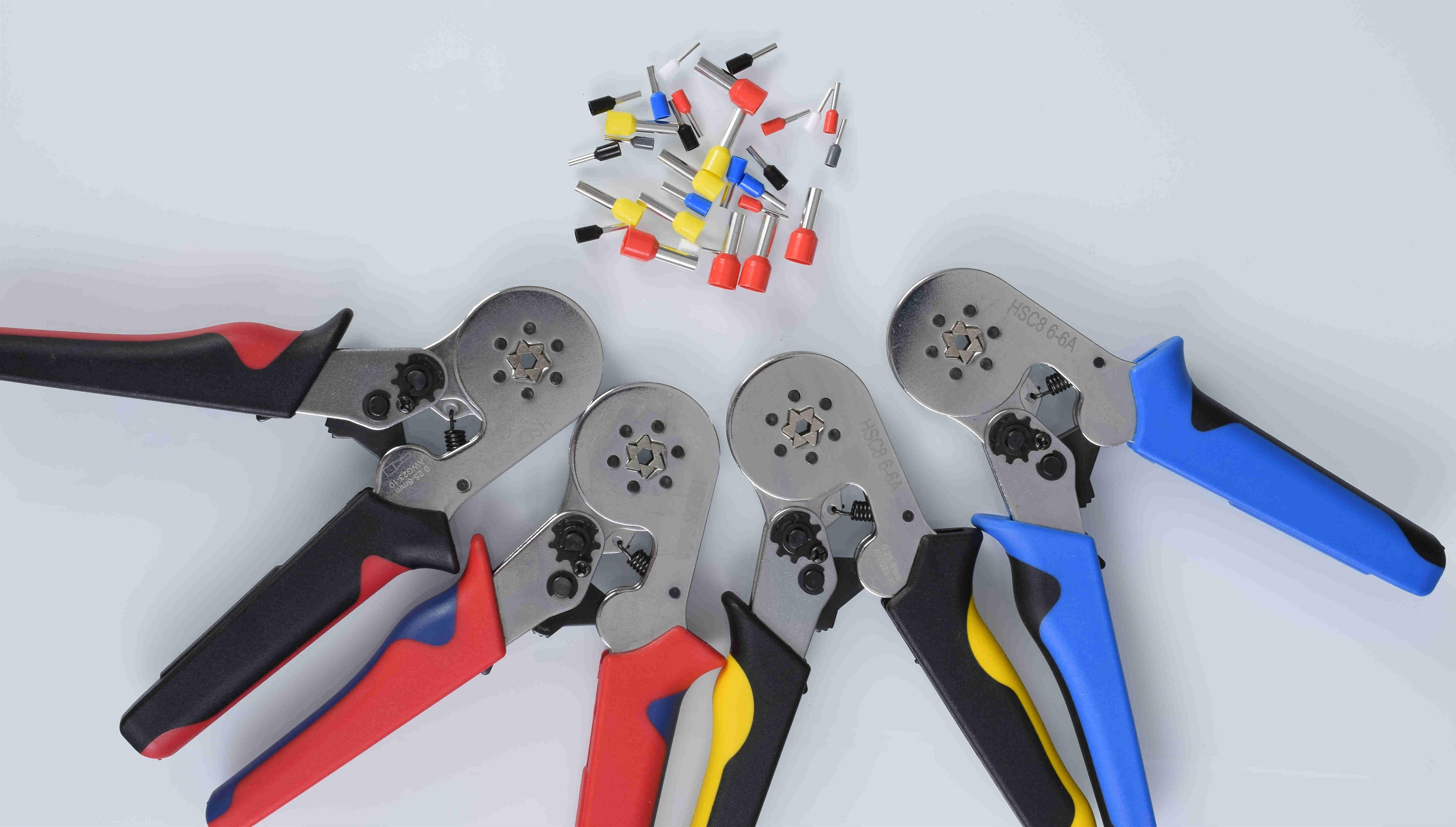 Ferrule crimping tool kit-TOOZO ferrule crimping pliers AWG 23-10 (0.25-6mm²) w / 1200pcs wire ferrule crimping wire end termina