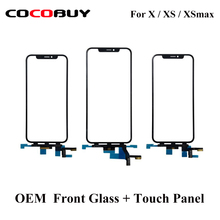 цена на Novecel OEM Quality LCD Display Touch Screen Front Outer Glass Panel with Flex Cable For iPhone X XR XS MAX Replacement Part