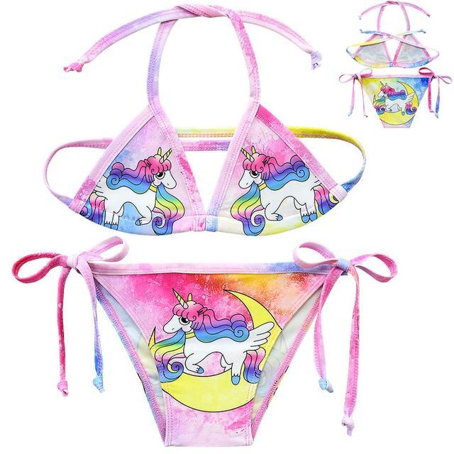 Girls 2-Piece Unicorn Swimwear
