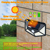 4 sides 100LEDs 3 modes glow PIR motion sensor solar wall light garden solar energy lamp always on at night outdoor street lamp discount