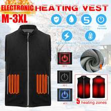 5 теплых зон теплый флисовый жилет с подогревом зимняя usb электрическая