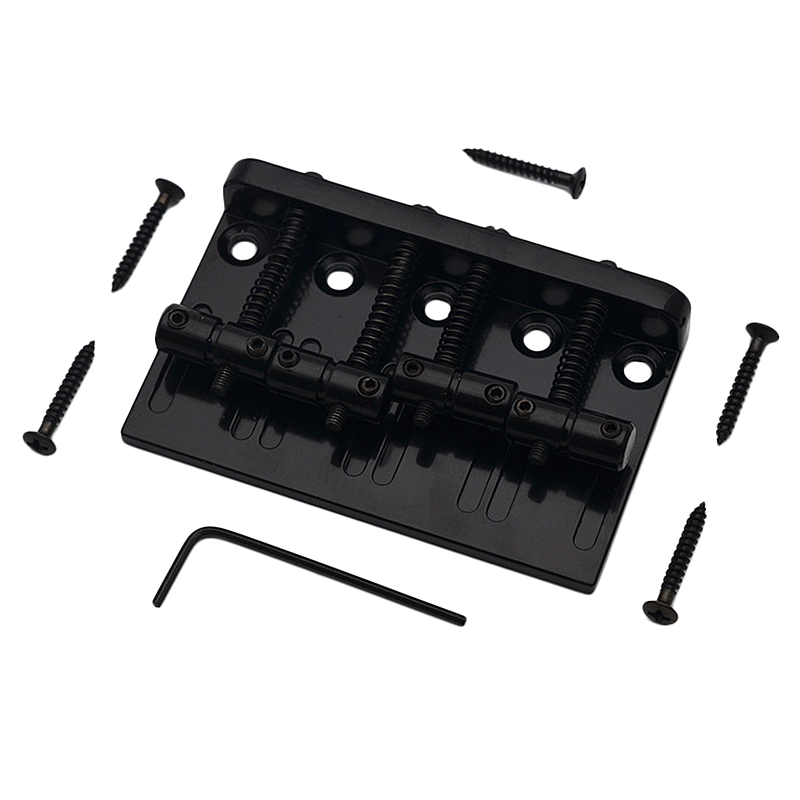 4 String Hardtail Bass Guitar Bridge For Fender Precision Jazz Bass PB JB Style Bass-ABLD