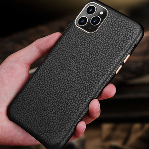 Image 5 - MYL LZP Lambskin Back Cover Case For iphone 12 11 Pro Max Genuine Leather Lichee Pattern Case For Apple iphone 12mini Phone case