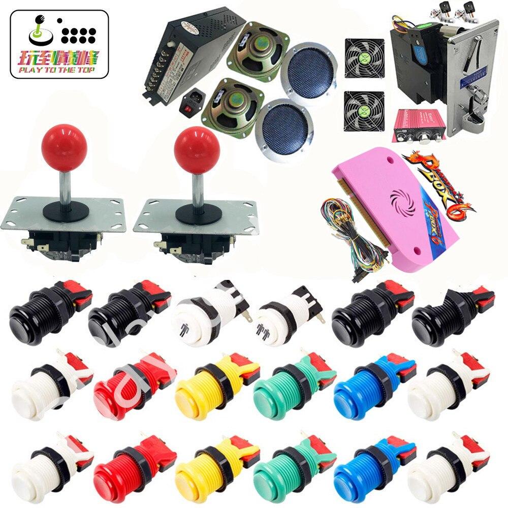 Nouveau kit d'arcade avec boîte Pandora 6 PCB 1300 en 1 Jamma alimentation bouton joystick américain pour bricolage Machine de jeu d'arcade