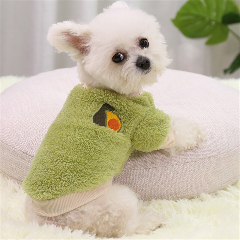 Fruit Pattern Pet Clothes for Cats Chihuahua Clothes for Mini Dogs Sweater for Cats Winter Puppy Sweater Clothes for Small Dogs