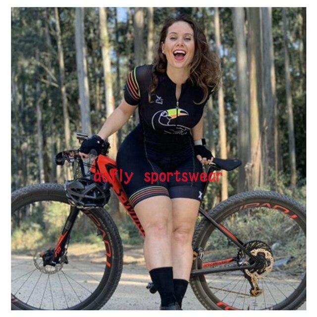 Xama roupas de manga curta das mulheres ciclismo triathlon terno roupas ciclismo conjunto skinsuit maillot ropa ciclismo macacão 6