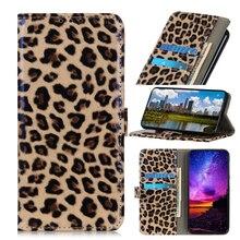 Для Nokia 7,2 чехол с леопардовым принтом из искусственной кожи чехол-кошелек для телефона с отделением для карт Леопардовый противоударный чехол с защитой от царапин