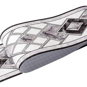 ПВХ самоклеющиеся обои границы Талия геометрический узор плинтус Гостиная Ванная комната Кухня Плитка наклейки Черный